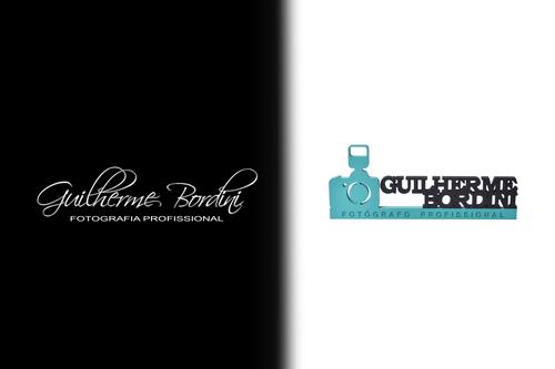 Logotipo de guilherme bordini fotografias