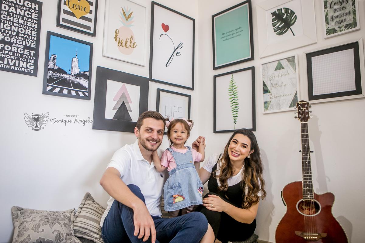 Imagem capa - Ensaio | Pâmela + Gustavo + Laura  por Monique Angelis - Fotógrafa de Casamentos