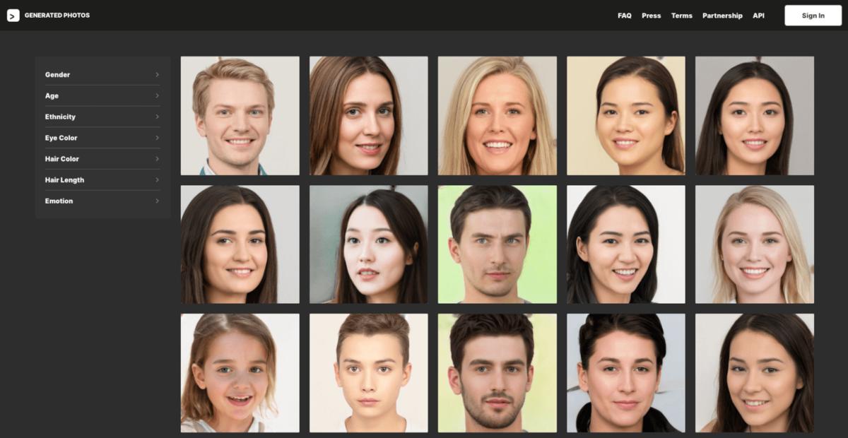 Imagem capa - Mais de 100mil rostos que nunca existiram por Brownie41
