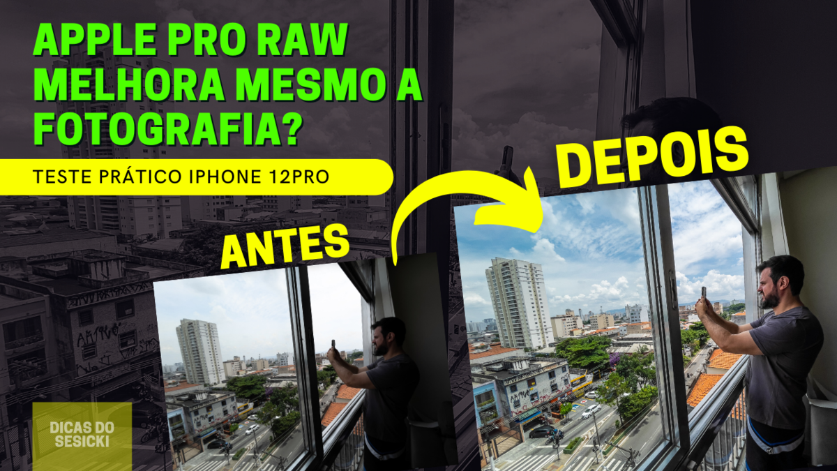 Imagem capa - Testei o modo Apple Pro Raw do iPhone12pro por Renan Sesicki Alves