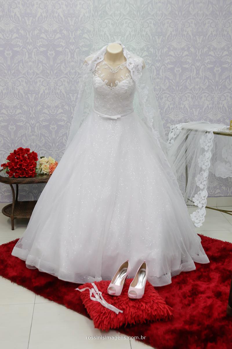 vestido de noiva, sapato