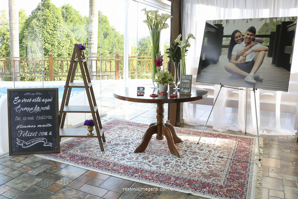 fotografia de casamento mogi das cruzes, foto espaço da recepção em mogi das cruzes