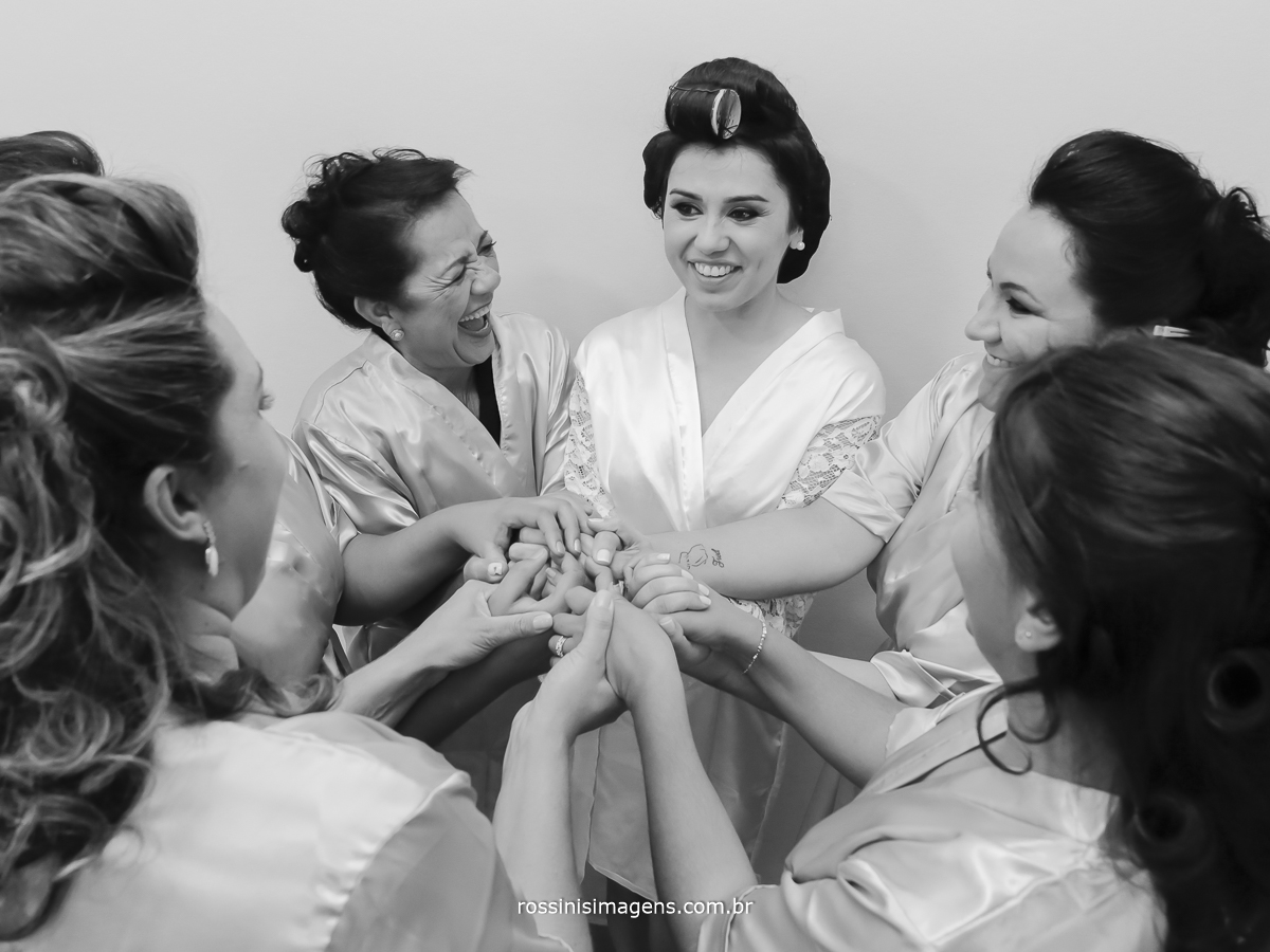 pensamentos positivos das madrinhas para a noiva no making of