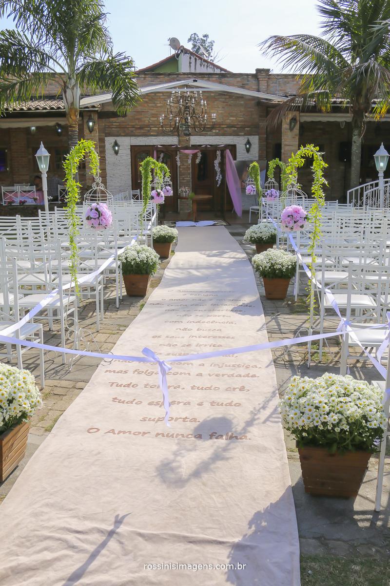 decoração do espaço para casamento em poa sp