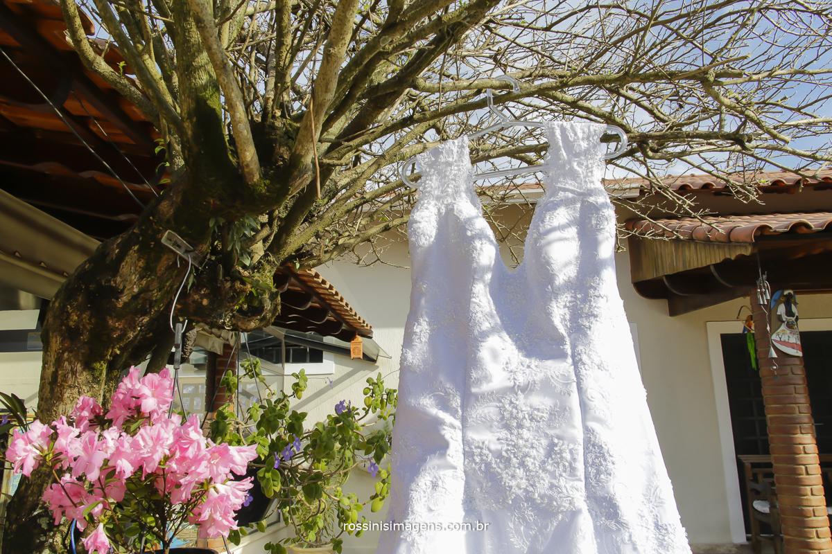 vestido branco da noiva Rafaela