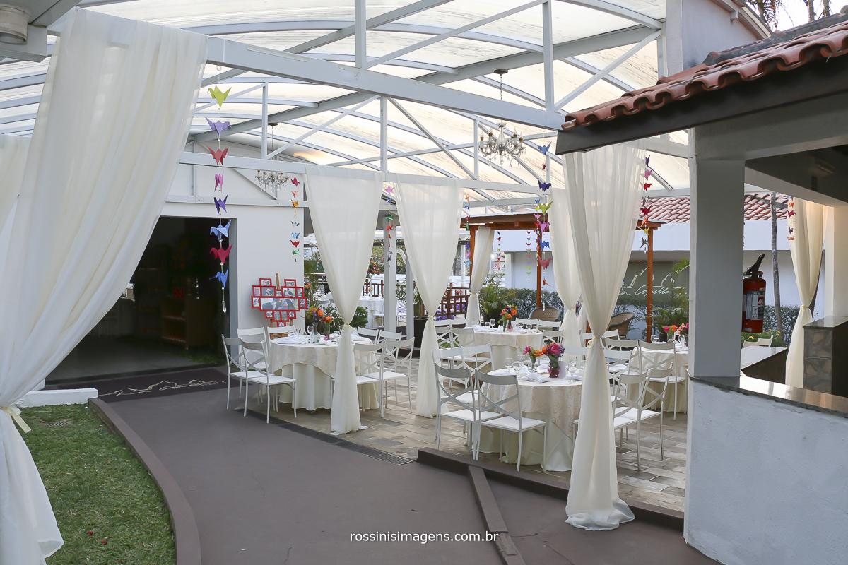 fotografia da recepção no dia do casamento no sitio la capella - poa - sp