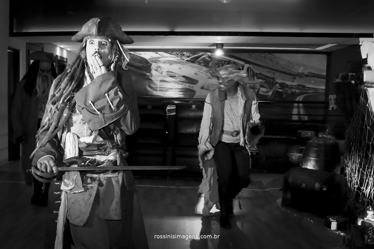 fotografia de aniversario infantil tematica piratas do caribe com personagem jack sparrow, Davy Jones, maccus