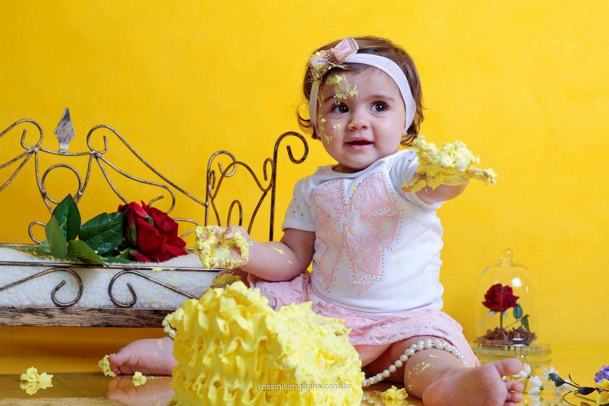 ensaio criança com bolo