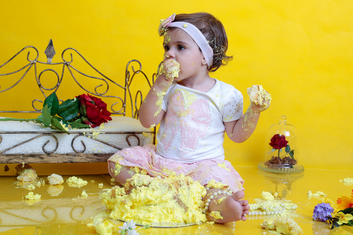 ensaio fotográfico em estúdio smashing the cake suzano