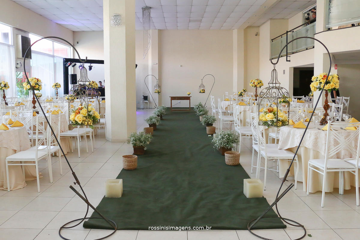 decoração do espaço para a cerimonia de casamento, Decoração e buffet caprichos buffet,