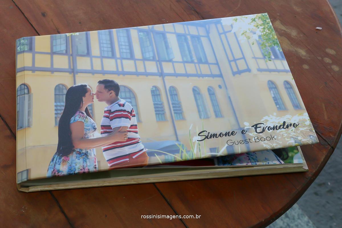 livro de assinatura do ensaio fotográfico pre casamento por rossinis imagens a melhor fotografia e vídeo da região