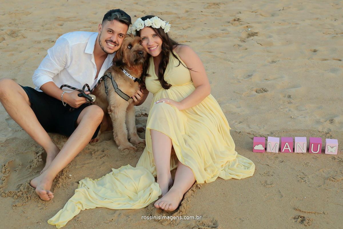fotografia de familia ensaio gestante na praia de ilhabela sp