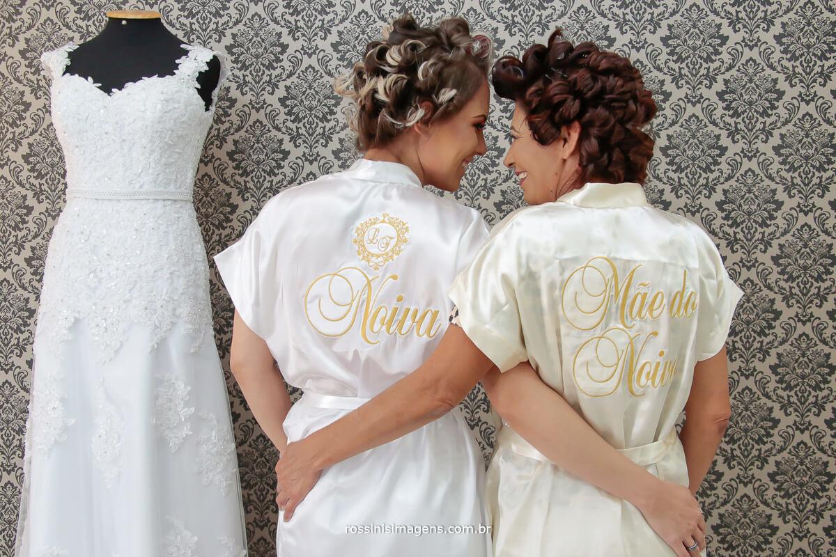 Gisele Grenza Hair estúdio de beleza noiva e mãe juntas momento incrível do casamento