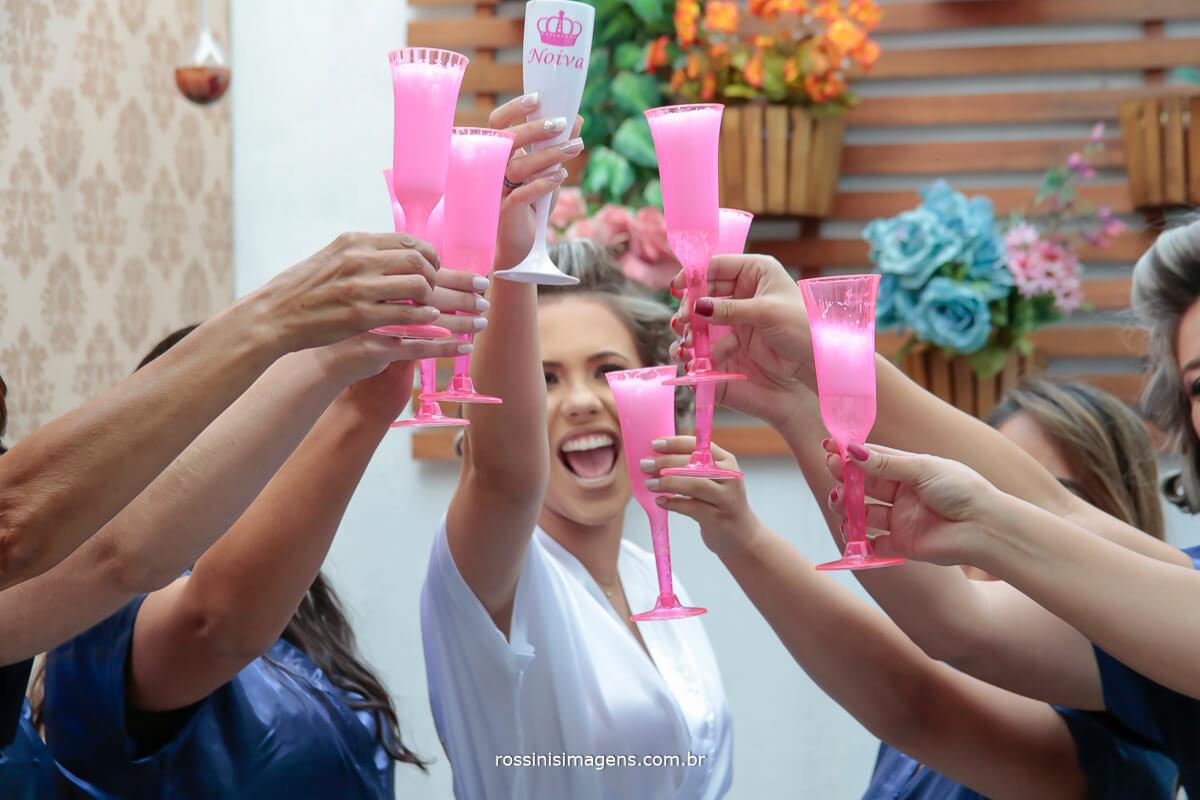 brinde noiva e madrinhas team bride, taças personalizadas hobe, personalizado roby, hoby
