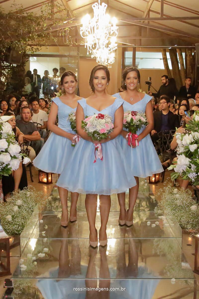 fotografia e filmagem de casamento rossinis imagens, entrada das damas de honra em espço garden fest arujá