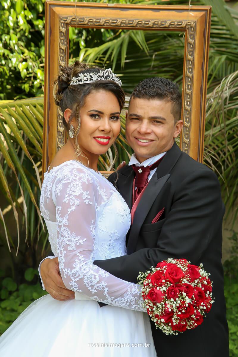 casal juntos, wedding day, fotografia de casamento arlete e rodrigo em Ferraz por rossinis imagens
