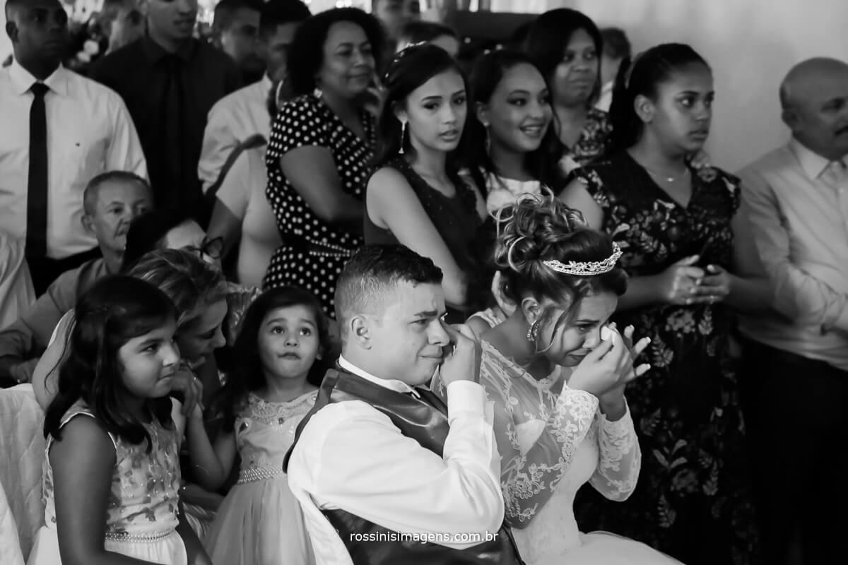 fotografia preto e branco de casamento de dia, arlete e rodrigo, wedding day, rossinis imagens