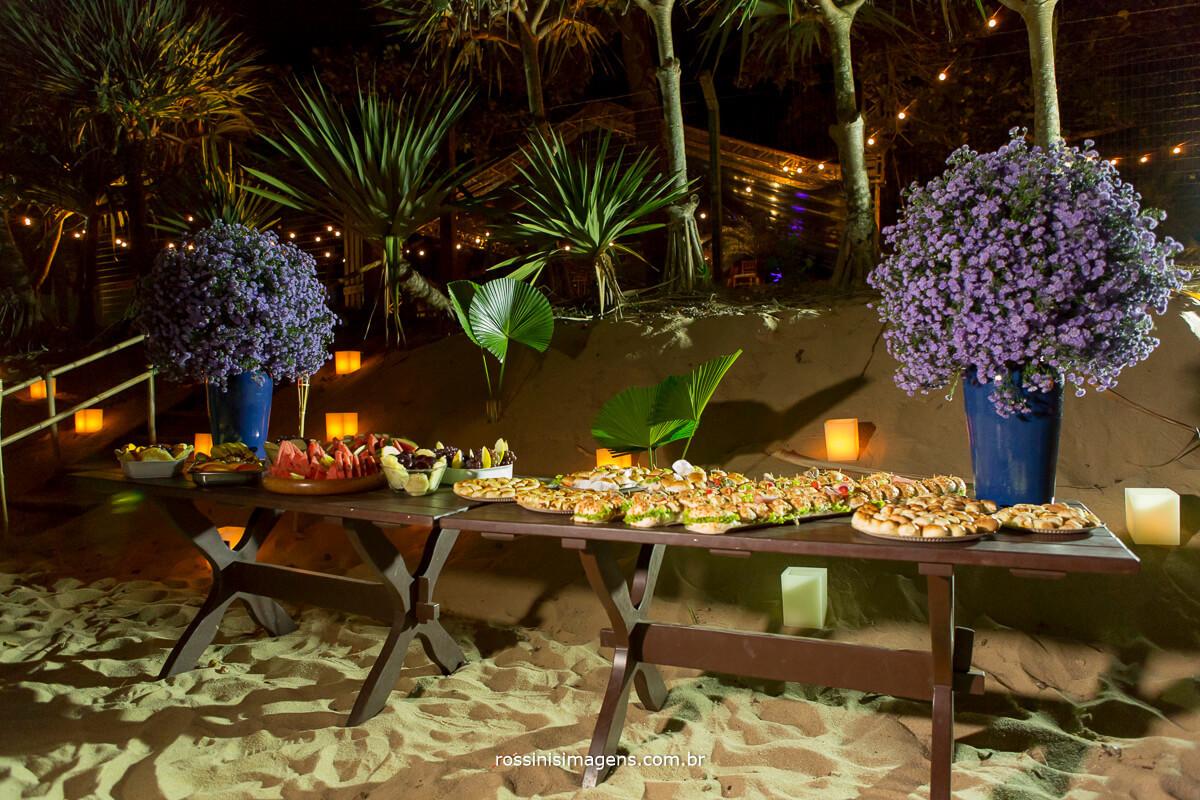 fotografia e filme de casamento na praia, drone, wedding, luau, recepção de convidados