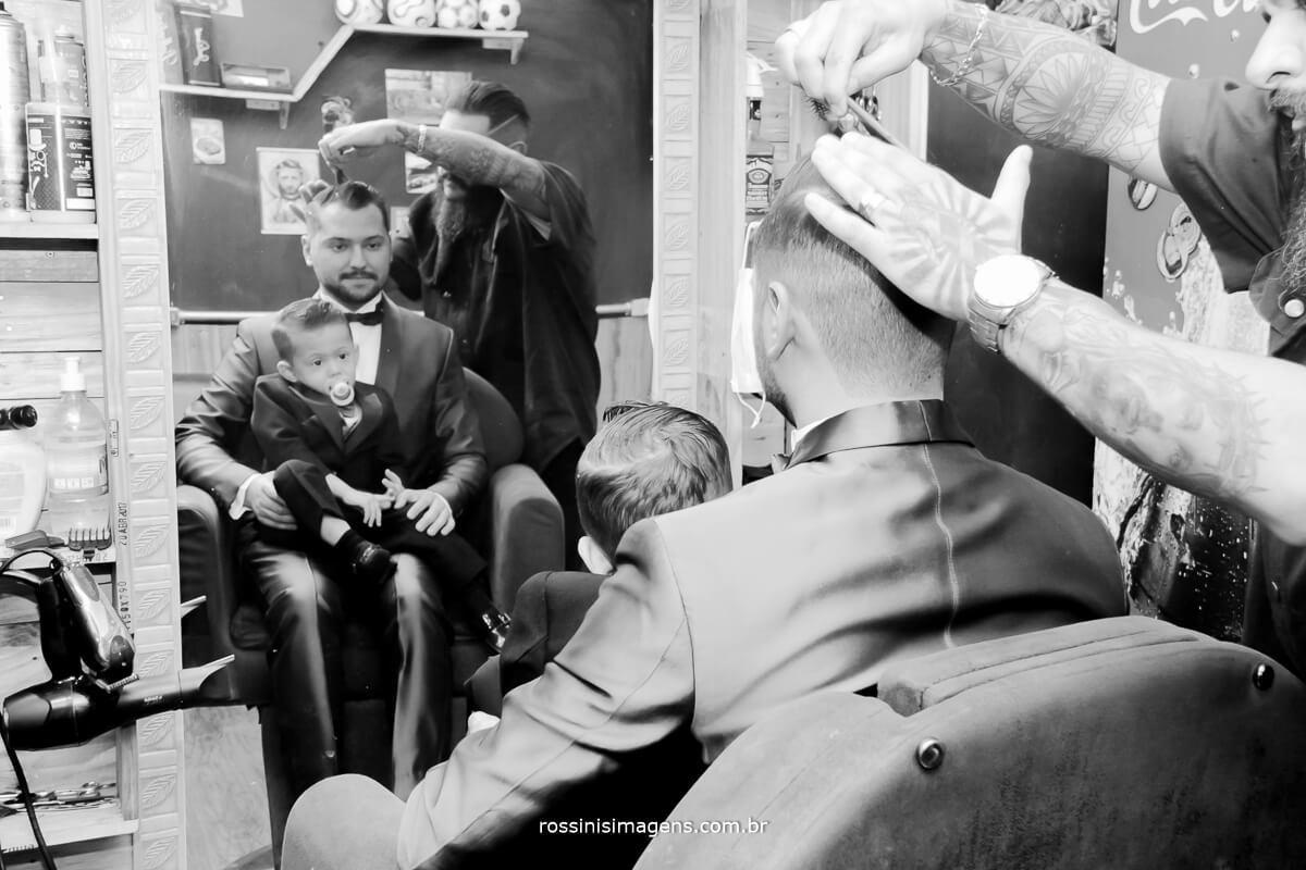 noivo fazendo a barba, barbearia em suzano, barbearia classe a suzano