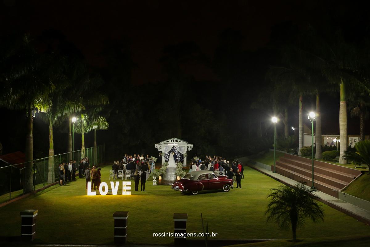 casamento ao ar livre, casamento de noite, casamento em poá, casamento com drone, espaço para casamento,
