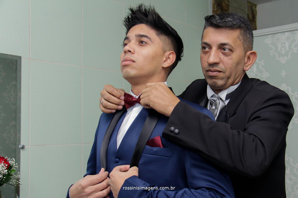 preparativos do casamento, pai e filho, Chácara Torres, dia do noivo