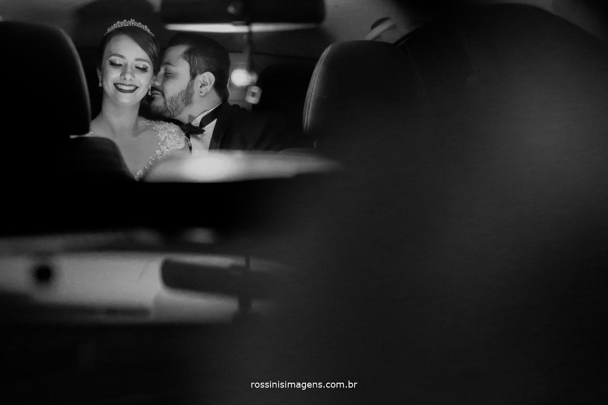 rossinis imagens, fotografia, casamento, wedding, casal, carro, preto e branco