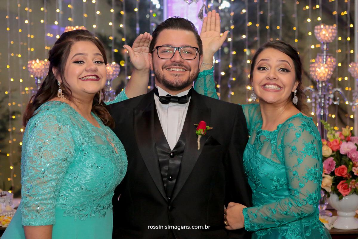família do noivo irmãs, casamento poá, suzano, mogi, sp, rossinis imagens
