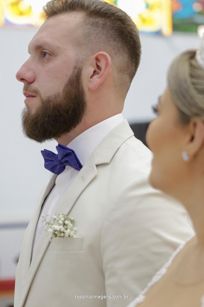 fotografo de casamento em suzano sp rossinis imagens, noivo chorando, noiva sorrindo, olhos marejados, lagrima
