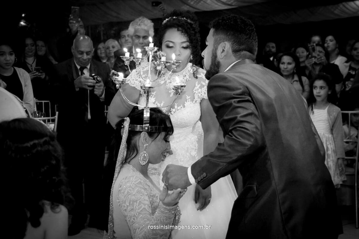 cortejo arabe noivos apagando a vela do candelabro, rossinis imagens fotografia de casamento