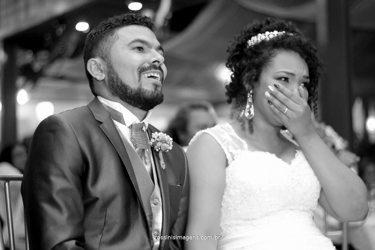 retrospectiva dos noivos feita pelos noivos, emocao e alegria