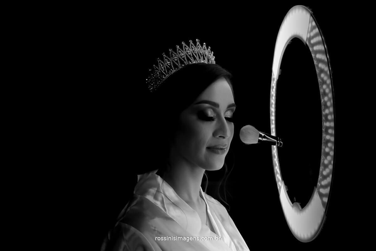 fotografia arte para noiva, criatividade e sensibilidade, rossinis imagens fotografia pb noiva com ring light