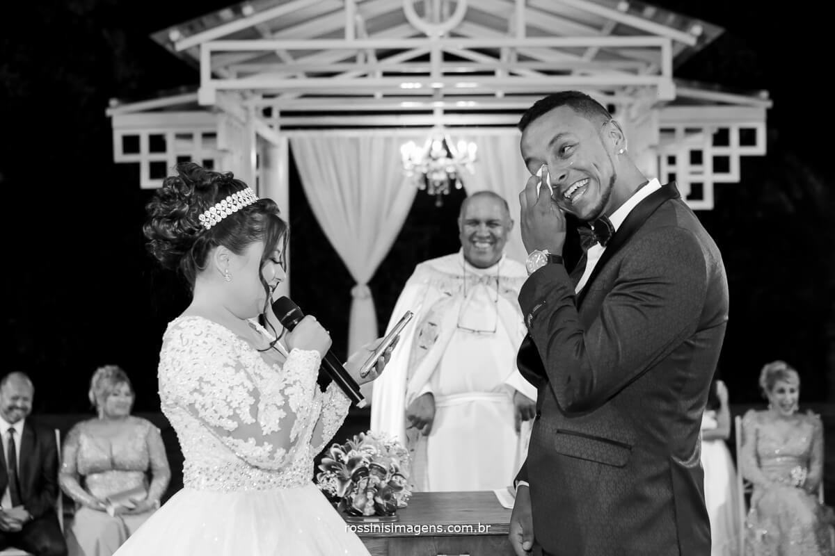 votos do casamento noiva para o noivo que chorou muito