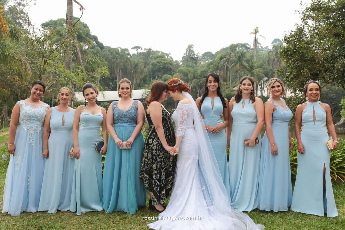 irmã da noiva e as madrinhas juntas sessão de fotos fotografo de casamento rossins imagens