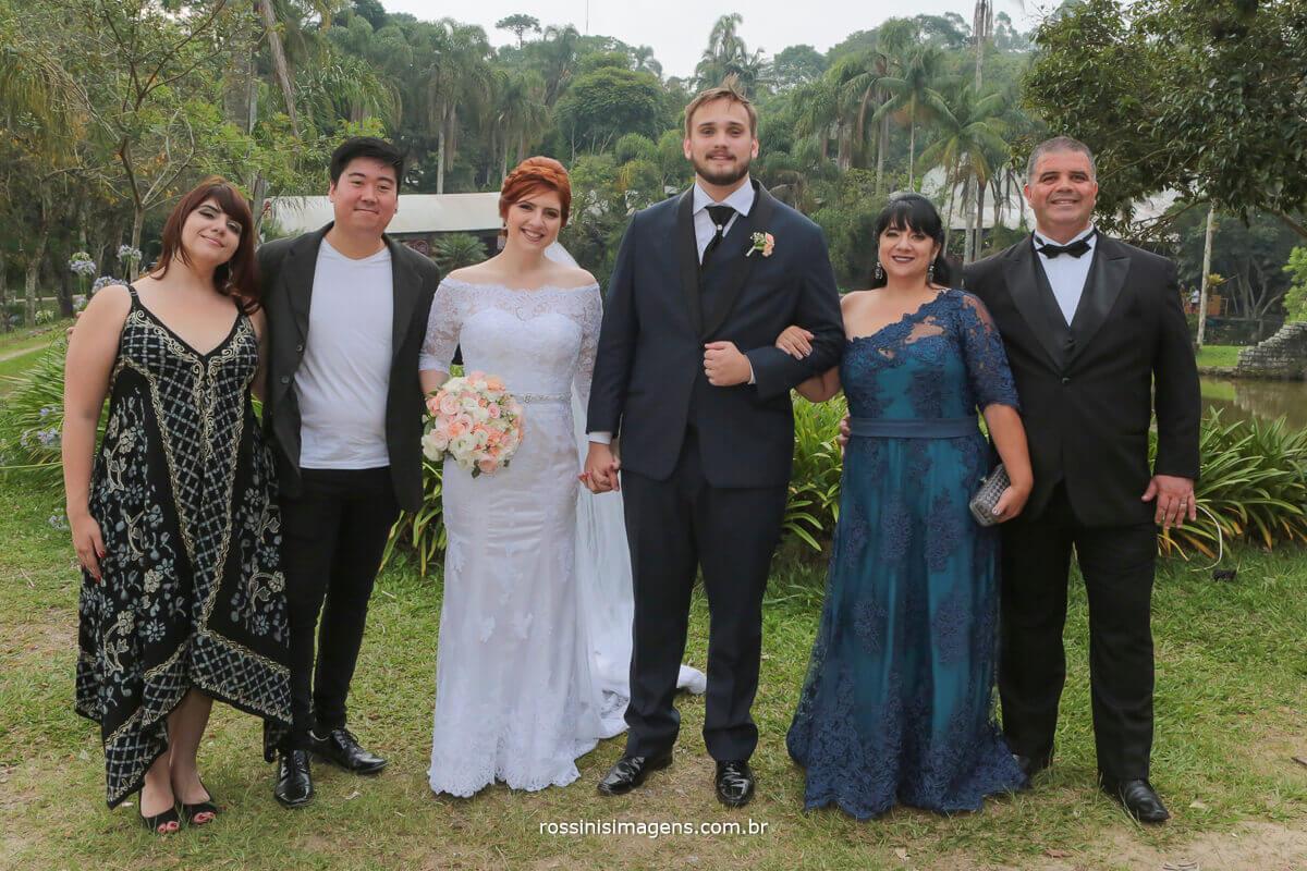 familia da noiva irmã e cunhado pai e mãe, rossinis imagens fotografia de famila, casamento, mogi