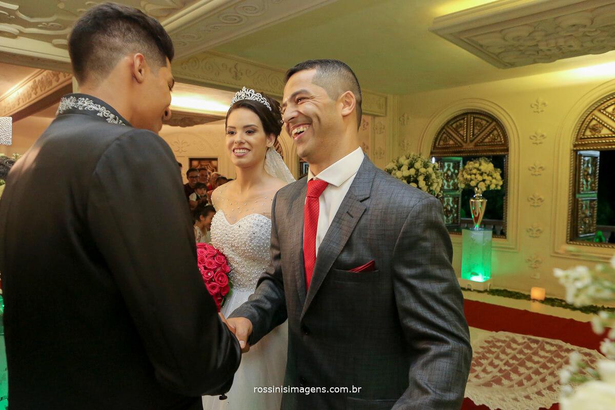 recepção da noiva no altar