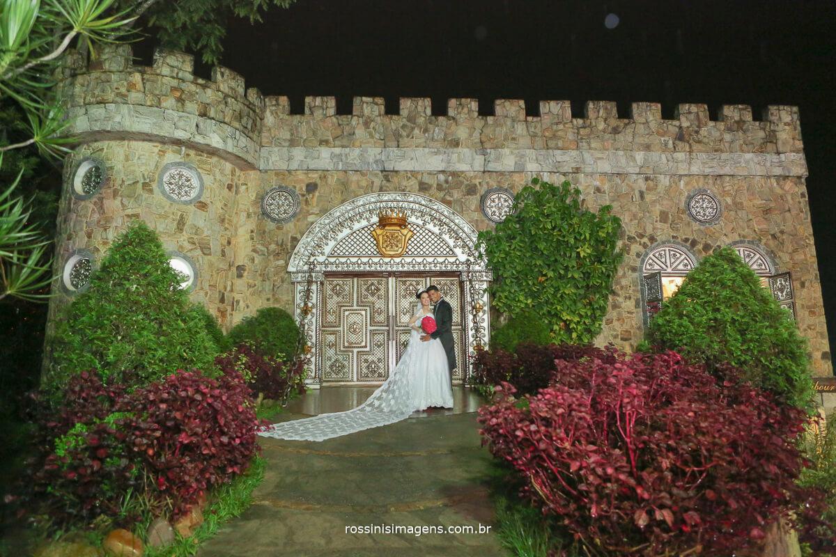 sessão de fotos apos a cerimonia de casamento castelo excalibur rossinis imagens fotografia e video
