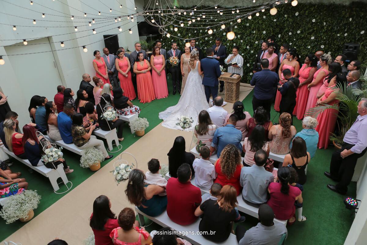 cerimonia vista de cima, wedding spazio casa nostra por rossinis imagens