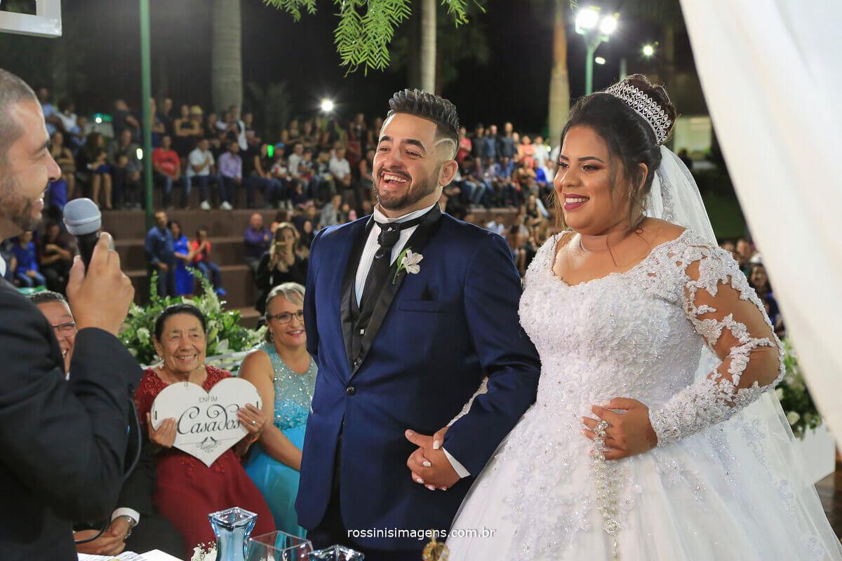 casamento na chacara torres em poa de noite cerimonia ao ar livre