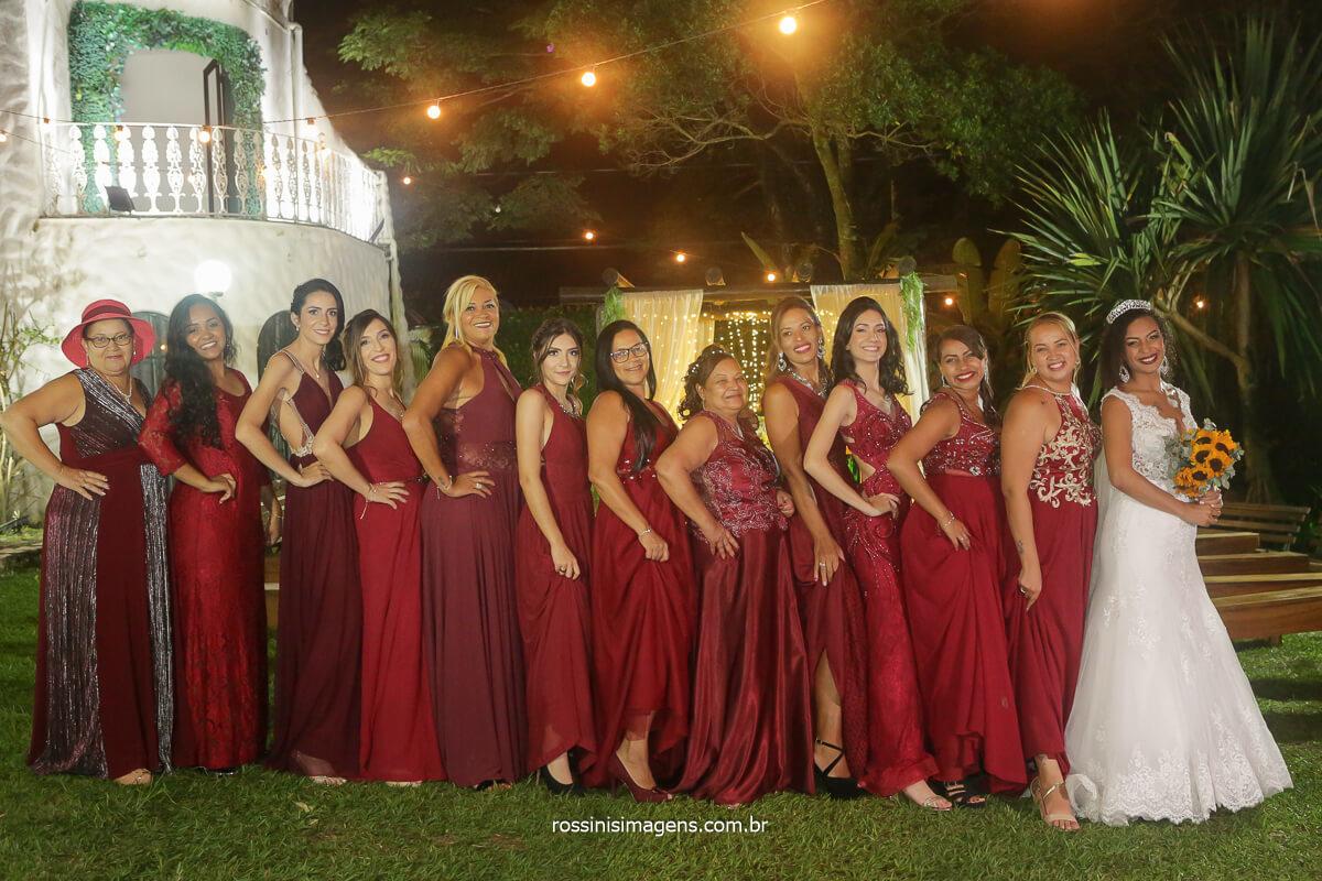 fotografia coletiva noiva e as madrinhas