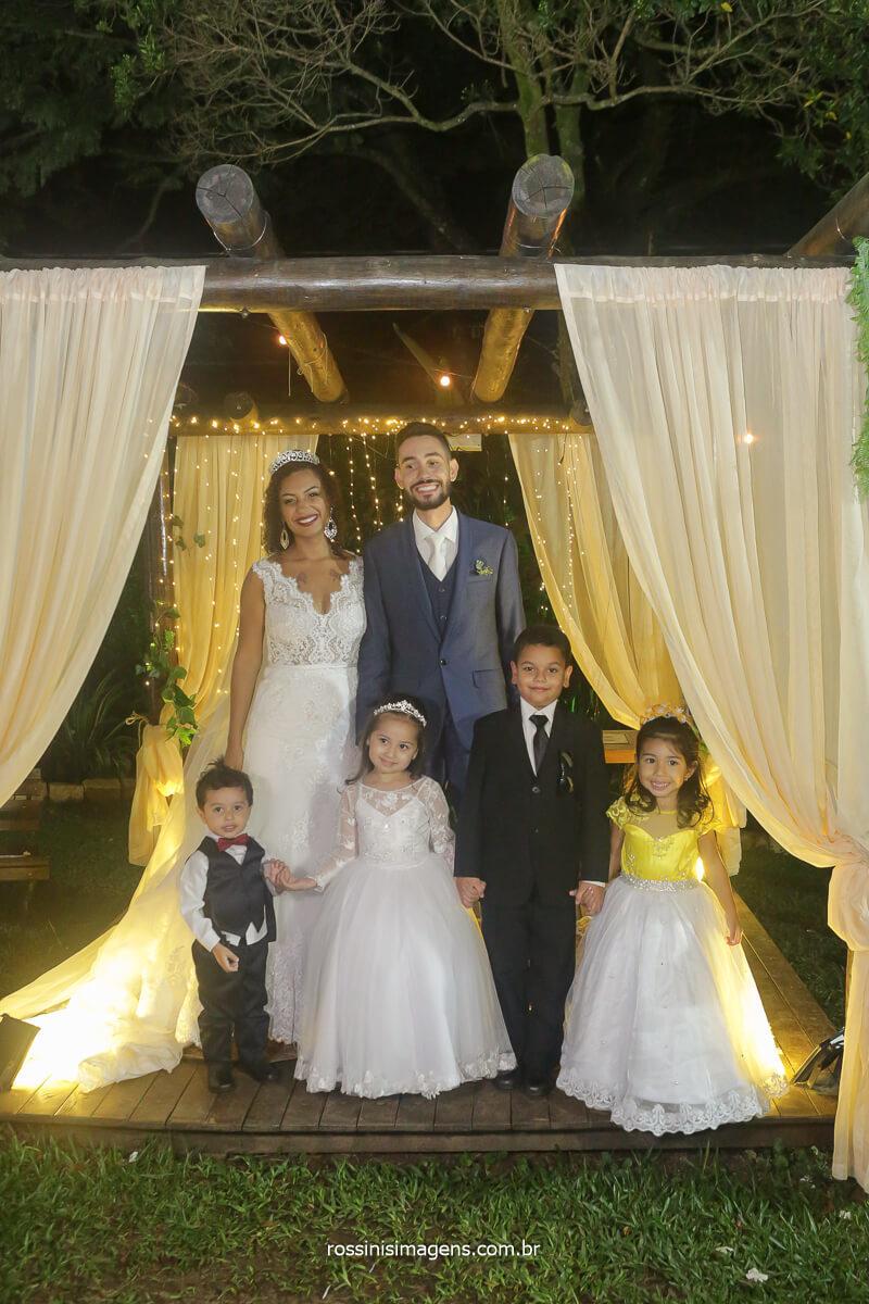 fotografia coletiva com as crianças do cerimonial rossinis imagens fotografia de casamento