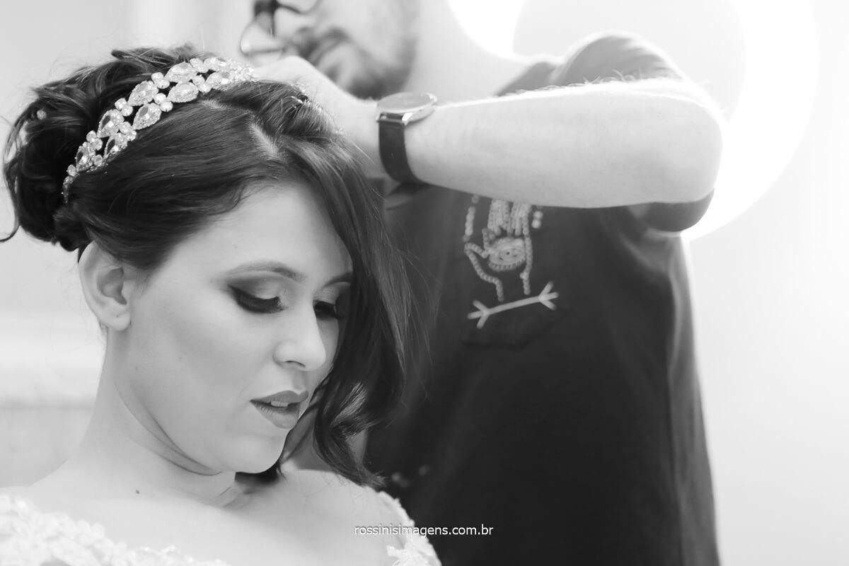 Hair stylist salão de beleza em poá - sp bella donna, noiva priscila, @RossinisImagens