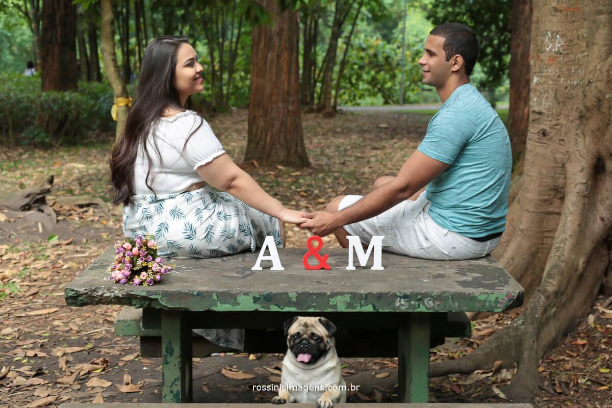 ensaio de casal com cachorro, ensaio de casal em parque, ensaio de casal em são paulo, ana julie e  marcelo, @RossinisImagens