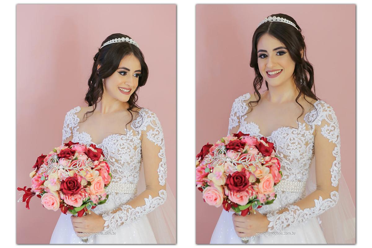fotografia da noiva com o maravilhoso Buquê, fotografo de casamento @RossinisImagens