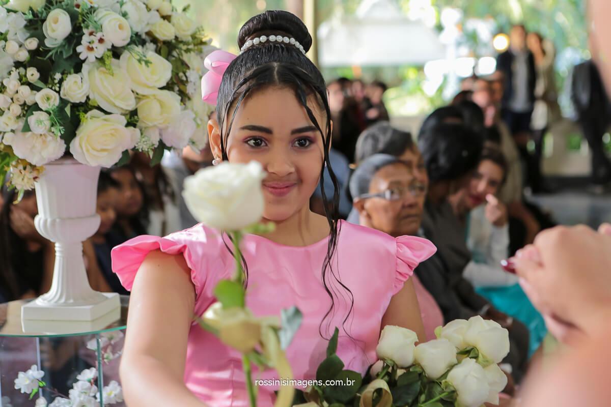 entrada das flores antes da noiva entrar, @RossinisImagens