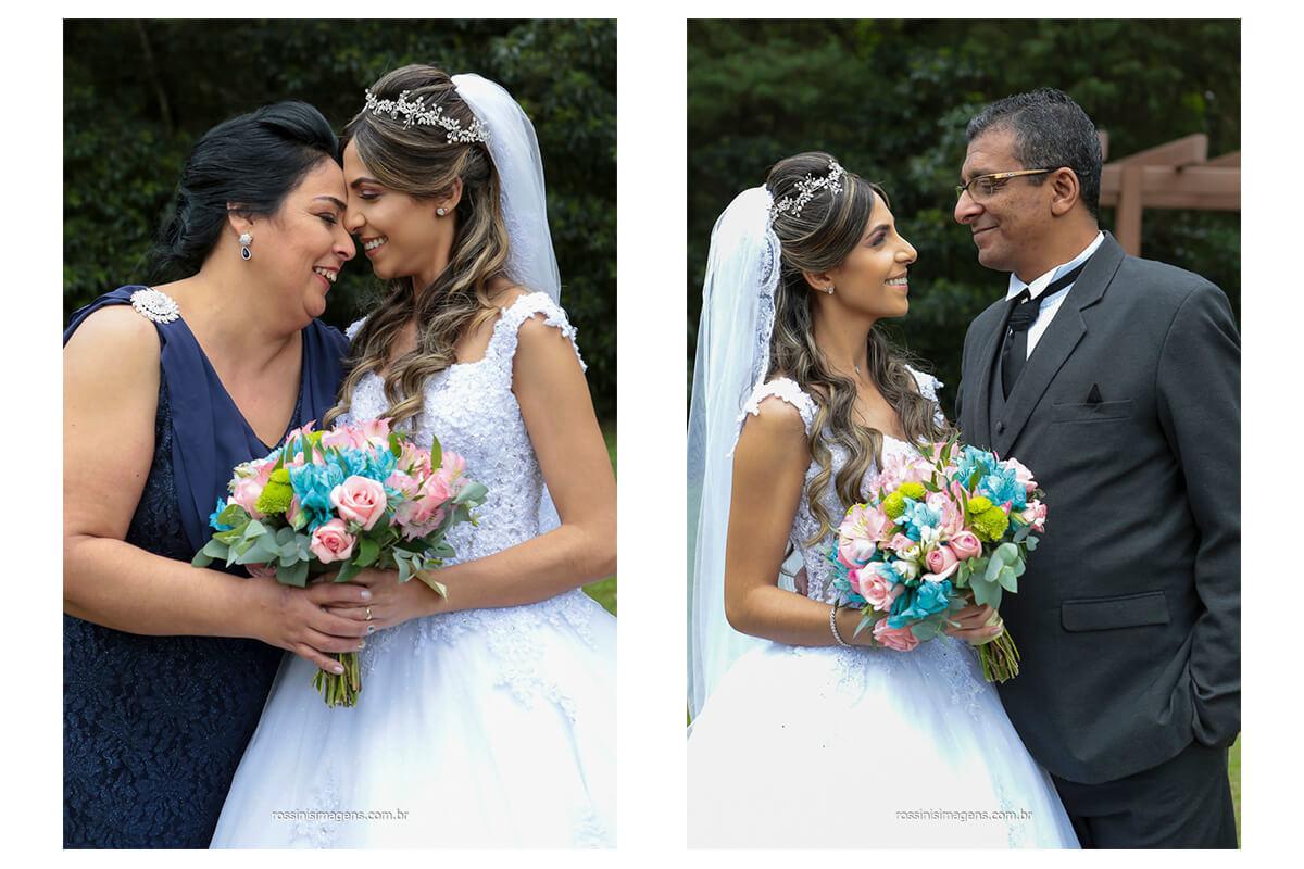 primeira foto mãe e noiva e segunda foto pai e noiva sessão de fotos apos a cerimonia de casamento no espaço balboa com fotografia de rossinis imagens, @RossinisImagens