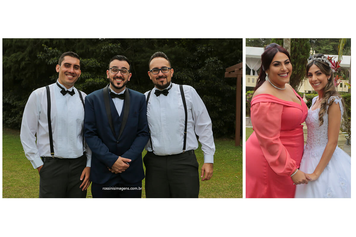 noivo com os irmãos e noiva com a irmã, @RossinisImagens