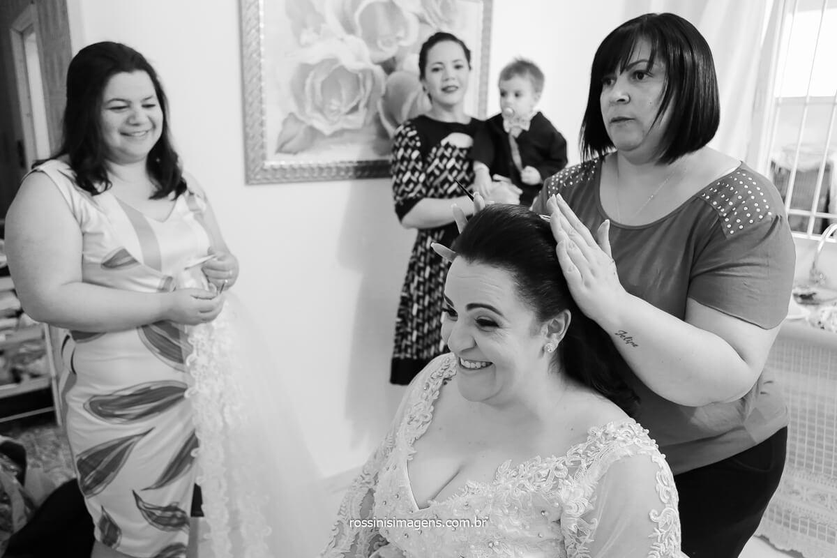 penteado noiva daniela e sandro casamento em poá - sp, @RossinisImagens
