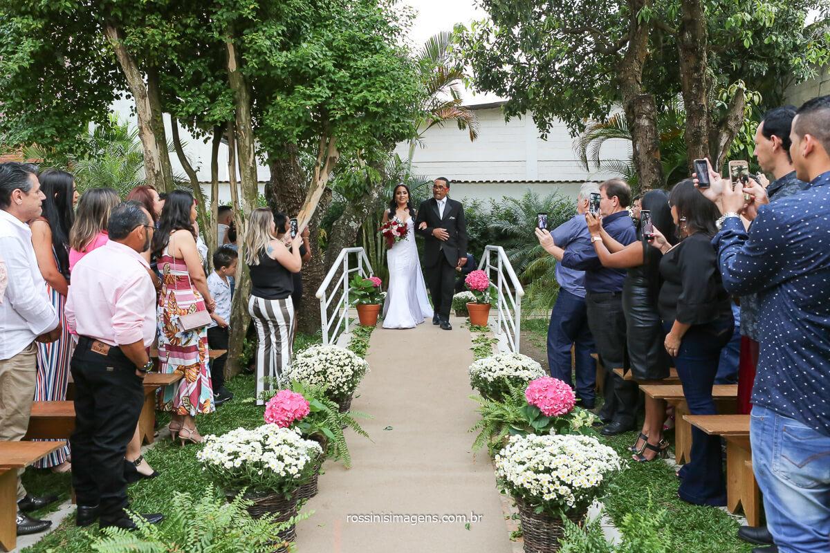fotografo de entrada da noiva casamento elaine e rafael, @RossinisImagens