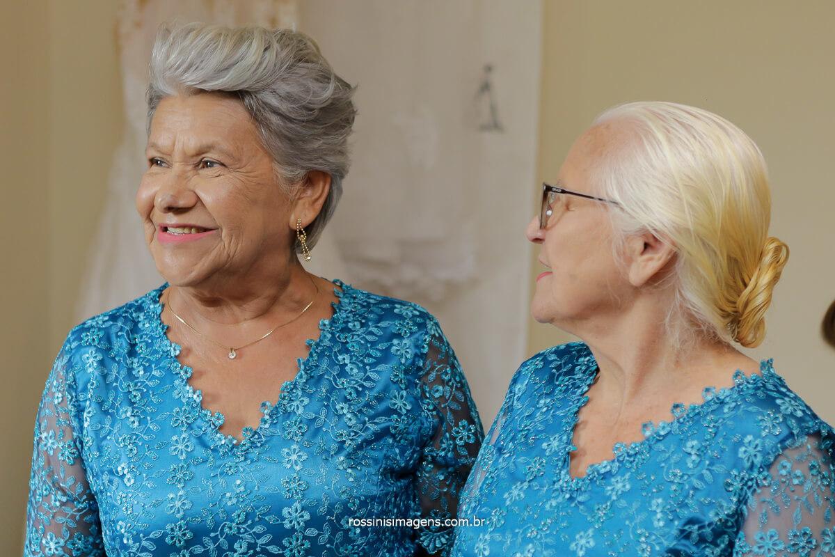 fotografia retrato das avos do casal Amanda e Wellington no casamento, momento lindo de ter as avos presentes no dia do casamento, Fotografia @RossinisImagens