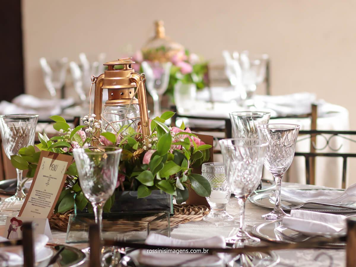 fotografia da decoração das mesas dos convidados, @RossinisImagens